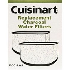 Cuisinart DCC-RWF1 Replacement Coffeemaker Water Filters, Set of 2