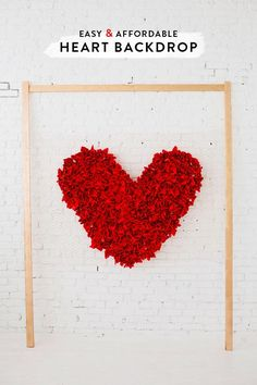 diy // brilliant Idea to make a heart backdrop
