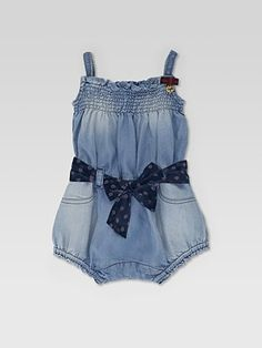 Gucci Infant's Denim Jumpsuit: Made in Italy. So adorable.  #Babies #Gucci #Jumpsuit