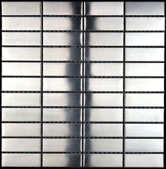 Mosaik Badezimmer, Küche und Dusche. mosaik fliesen aus edelstahl mi-rec-74  13,50 €  Länge: 28,6 cm, Breite: 29,8 cm, Tiefe: 5 mm, Material: Acier inoxydable 304, Farbe: gris, Fliesengröße: 9,8 x 3 cm, menge: 1 Platte, Oberfläche: 0,09 m2, Größe der Platte: 28,6 x 29,8 cm