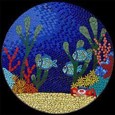Mosaic Patio Table - Brett Campbell Mosaics. Love this.