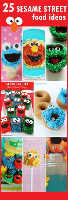 A roundup of awesome Sesame Street food ideas for your Sesame Street party!