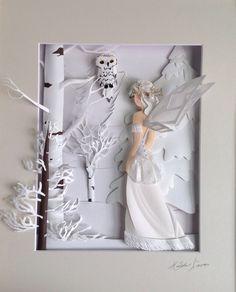 The art of Hilda Lara Winter faerie paper sculpture 3d Paper Art, Origami Paper Art, Paper Artwork, Paper Artist, Paper Quilling, Book Art, Pop Up Karten, Deco Disney, Bordados E Cia