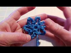 easy crochet flower video tutorial for beginners
