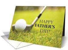 Happy Father's Day with Golf Ball and Golf Club card. Personalize any greeting card for no additional cost! Cards are shipped the Next Business Day. Product ID: 188447 Happy Fathers Day Brother, Happy Fathers Day Greetings, Father's Day Greetings, Gifts For Brother, Fathers Day Cards, Birthday Greetings, Brother Sister, Father's Day Greeting Cards, Personalized Gifts For Dad