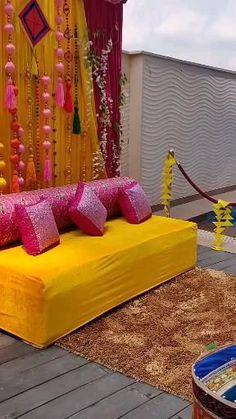 Simple Stage Decorations, Romantic Room Decoration, Romantic Bedroom Decor, Wedding Stage Decorations, Backdrop Decorations, Wedding Stage Design, Desi Wedding Decor, Wedding Mandap, Mehndi Function