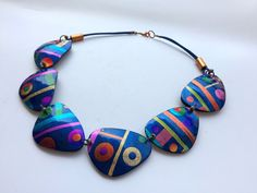Necklace by Mabcrea on Flickr. Polymer clay.