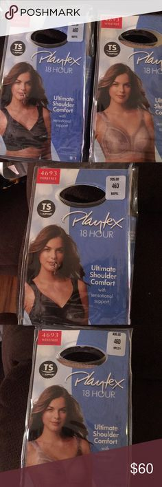 Platex 18-Hour Bras, 46D Comfortable Platex 18-Hour Bras in size 46-D. One black and the other beige. Buy both for $60 or one for $30. Brand new in original packaging. I ordered the wrong size...a great deal. Platex Intimates & Sleepwear Bras