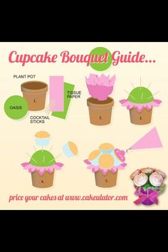 Cupcake bouquet guide