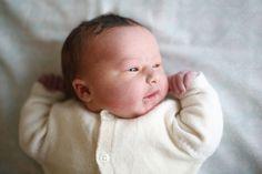 A new born baby girl at the maternity ward