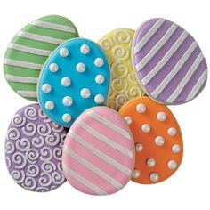 How to decorate Eclectic Egg Cookies.
