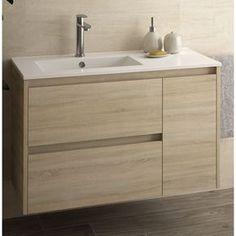 Oak Noja PLUS furniture – Furnishings Bathroom Vanity Designs, Bathroom Design Small, Bathroom Interior Design, Modern Sink, Modern Bathroom, Bathroom Renos, Bathroom Cabinets, Home Office Furniture, Bathroom Furniture