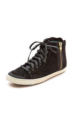 Tretorn Seksti Suede High Top Sneakers