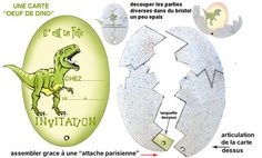Modèle invitation oeuf de dinosaure