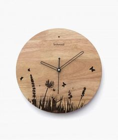 Buy Wooden Wall Clock Online in India at Knitwood – Shop multi-purpose contemporary wall clock made of solid rubber wood with branded movement only Unusual Clocks, Cool Clocks, Diy Clock, Clock Decor, Wall Clock Wooden, Wall Clock Online, How To Make Wall Clock, Wall Clock Design, Creation Deco