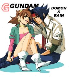 The power couple from one of my most favorite anime shows, G Gundam; Domon Kashu and Rain (I forget her last name).
