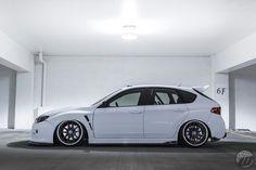 Subaru impreza wrx sti hatchback on work wheels                                                                                                                                                                                 More