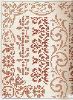 Thrilling Designing Your Own Cross Stitch Embroidery Patterns Ideas. Exhilarating Designing Your Own Cross Stitch Embroidery Patterns Ideas. Filet Crochet, Crochet Borders, Cross Stitch Borders, Cross Stitch Samplers, Crochet Chart, Cross Stitch Flowers, Cross Stitch Charts, Cross Stitch Designs, Cross Stitching