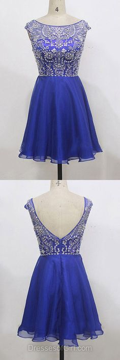 Casual Summer Dresses, Blue Homecoming Dresses, Short Cocktail Dresses, Beading Party Gowns, Modest Prom Dresses