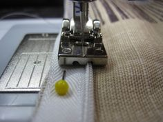 Pillow with invisible zipper tutorial. Easier with an Invisible Zipper foot for your machine!