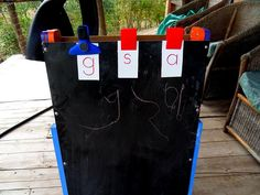 Writing Letters on Chalkboard by Mud Hut Mama, via Flickr