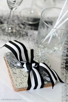 DIY Sequin Coasters by Parties for Pennies