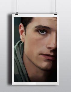 The Hunger Games Peeta Mellark Poster - Josh Hutcherson Original Illustration - 12x18 on Etsy, $9.99