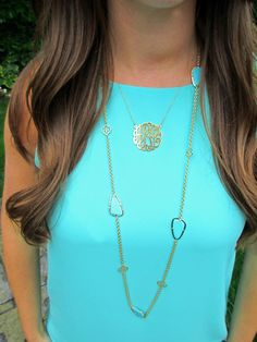 Monogram necklace  www.basicallybere.com