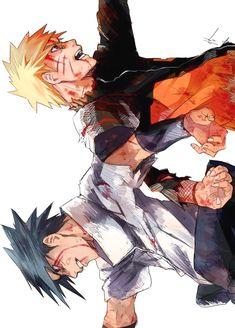 Let's get something straight here - the bromance between Sasuke and naruto is one of the most awesome things in the world Naruto Uzumaki, Sasuke Sakura, Anime Naruto, Naruto Gaiden, Naruto Fan Art, Naruto Cute, Naruto Shippuden Sasuke, Manga Anime, Boruto