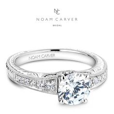 Hell her she is the one with this engagement ring by Noam Carver.  See more here: http://noamcarver.com/details.asp?SKU=B050-01WM-100A