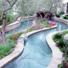 Lazy river in the backyard I need that!!!