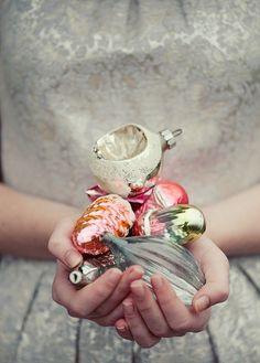delicate + glass ornaments