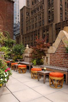 Rooftop of The Library Hotel in New York City. #packingmysuitcaseblog