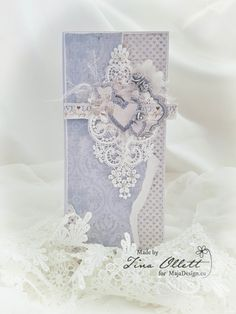 """Gorgeous and romantic card by Tina Ollett - """"Truly Madly, Deeply"""". Created from MajaDesign's Vintage Romance collection. Making Ideas, Card Making Inspiration, Acetate Cards, Romantic Cards, Shabby Chic Cards, Scrapbook Cards, Scrapbooking, Beautiful Handmade Cards, 3d Cards"""