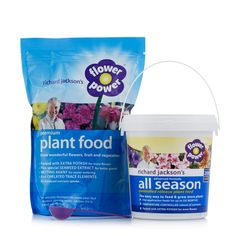 A Duo Of Richard Jackson S Flower Power Premium Plant Food And All Season  Feed.