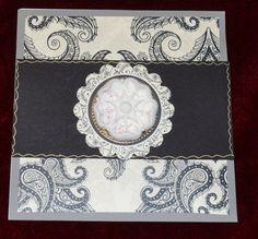 Handmade balck and white card , blank