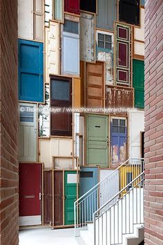 Piet Hein Eek´s recycled doors in colors