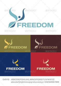 Freedom Logo — JPG Image #charity #clinic • Available here → https://graphicriver.net/item/freedom-logo/2501136?ref=pxcr