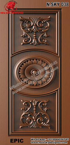 Single Door Design, Wooden Main Door Design, Room Door Design, Home Room Design, House Doors, Room Doors, Blue Colour Images, Tv Unit Furniture Design, Modern Exterior Doors