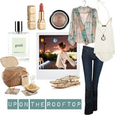 """""""picnic-rooftop"""" by lovelyundergrad on Polyvore"""