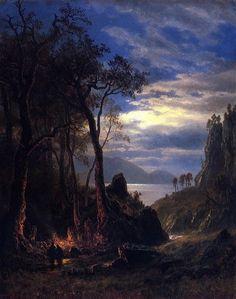 latest addition Bierstadt Albert The Campfire