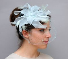 Vintage 1950s Hat  Ice Blue Linen and by WildHoneyPieVintage, $50.00