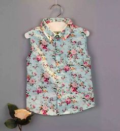 kids clothes 2016 Summer style new children clothing Baby Girl's clothes sets Fashion Sleeveless printing  floral shirt + shorts