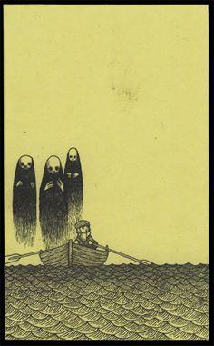 John Kenn: monster drawings drawn on post it notes