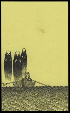 John Kenn: monster drawings drawn on post it notes