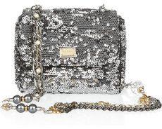 Dolce & Gabbana Sequined leather shoulder bag on bagservant.co.uk