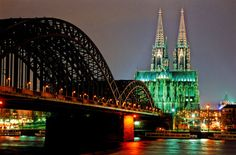 Editorial Germany :  Cologne - Hohenzollern Bridge and Cologne Cathedral