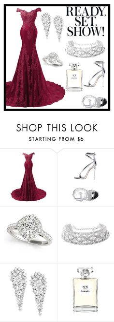 """""""Giuseppe Zanotti"""" by almir-djulo ❤ liked on Polyvore featuring Giuseppe Zanotti, Wrapped In Love, Chanel and polyvoreset"""
