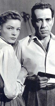"Humphrey Bogart y Lauren Bacall en ""Cayo Largo"" (Key Largo), 1948"
