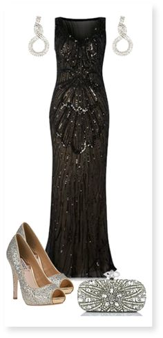 Black evening gown.